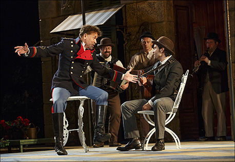 Brian Stokes Mitchell and Steel Burkhardt in Much Ado About Nothing