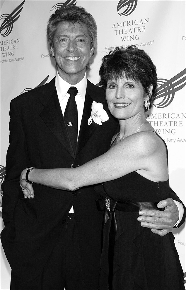 Tommy Tune and Lucie Arnaz at the American Theatre Wing Spring gala in 2007.