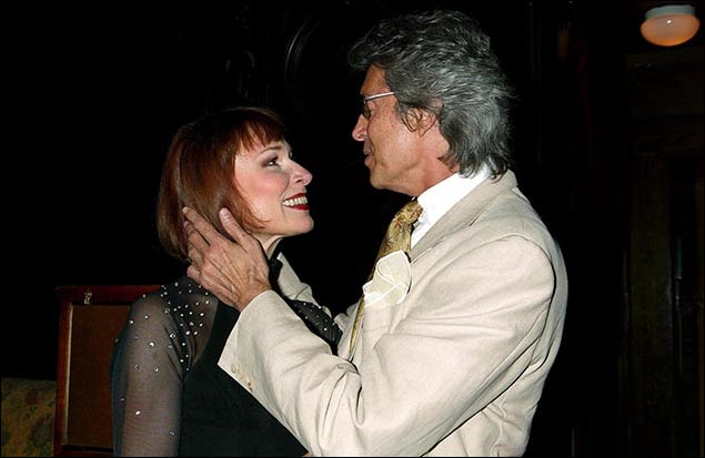 Karen Akers and Tommy Tune celebrate Karen Akers Live! at the Oak Room in 2003.