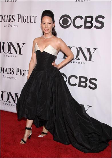Lucy Liu at the 2014 Tony Awards