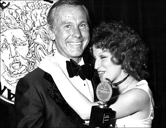1974: Johnny Carson and Bette Midler