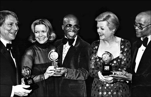 1975: John Cullum, Ellen Burstyn, John Kani, Angela Lansbury and Winston Ntshona