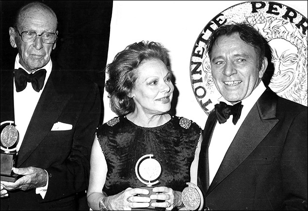1976: George Abbott, Irene Worth and Richard Burton