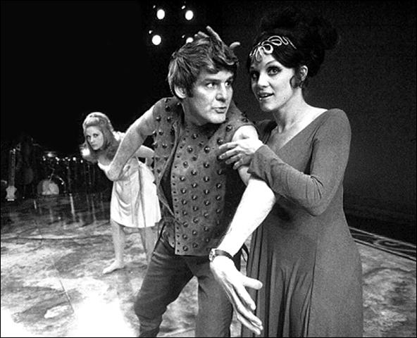 Mary Frann, Richard Schaal and Valerie Harper in Ovid's Metamorphoses.