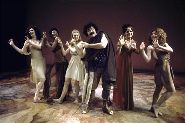 Penny White, Paula Kelly, Mary Frann, Avery Schreiber, Valerie Harper and Regina Baff in Ovid's Metamorphoses.