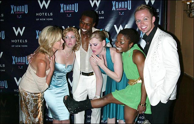 Olivia Newton-John, Patti Murin, Andre Ward, Anika Larsen, Kenita Willer and Marty Thomas