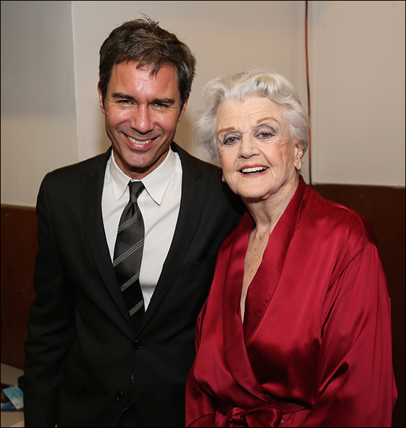 Eric McCormack and Angela Lansbury