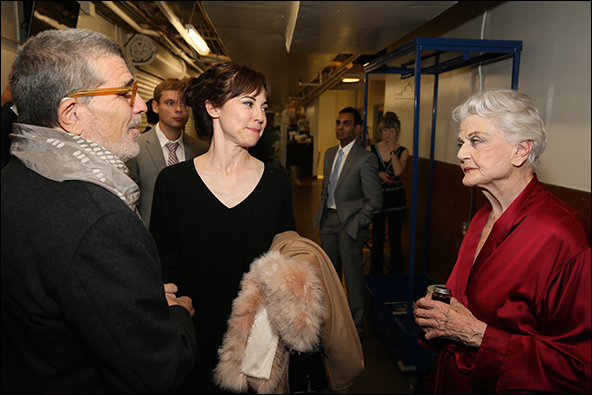 David Mamet, Rebecca Pidgeon and Angela Lansbury