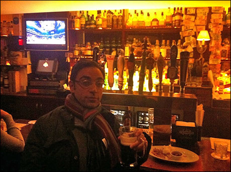 And then finally, at the end of the day, it's time to go have a drink and burger at St. Andrew's across the street from the theatre with Baker Bob Ben Steinfeld. Catch-ups and winds-down...