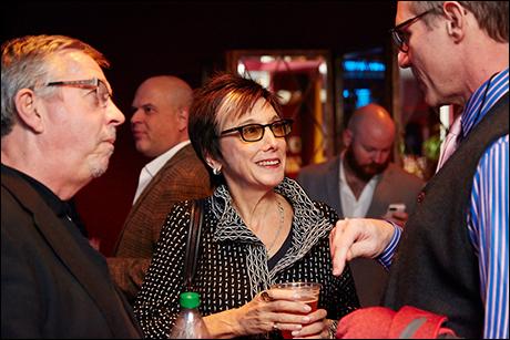 New York publicist Sam Rudy, producer Robyn Goodman,  Director Mark Brokaw