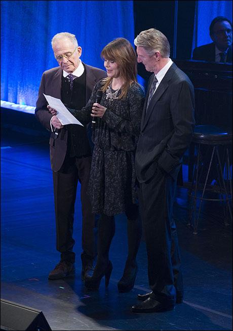 Ron Rifkin, Kathryn Erbe and Byron Jennings