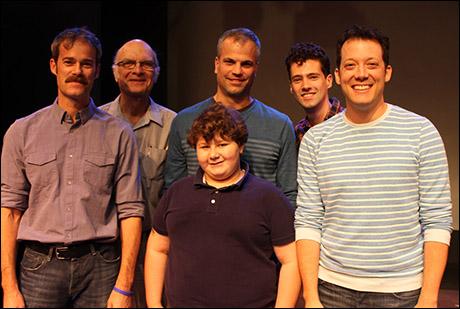 James Ludwig, Walter Charles, Tom Lucca, Jeremy Shinder (front), Liam Forde and John Tartaglia