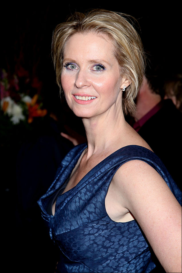 Cynthia Nixon celebrates the opening night for Mark Gerrard's Steve, 2015