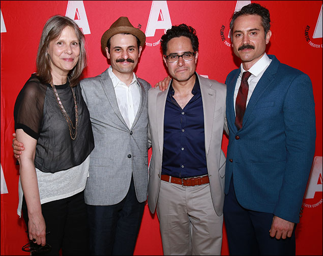 Amy Morton, Arian Moayed, Rajiv Joseph and Omar Metwally