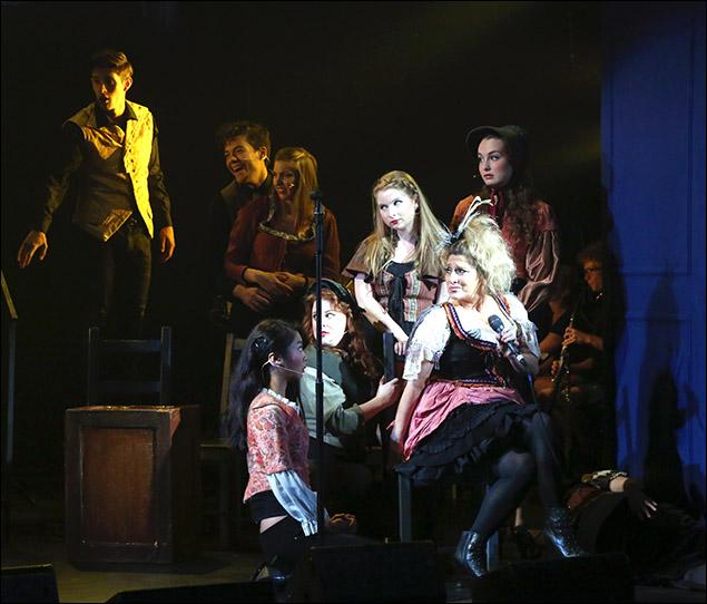 Liz Larsen and cast