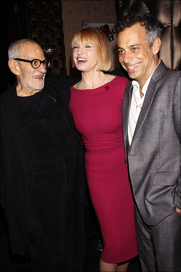Larry Kramer, Ellen Barkin, Joe Mantello and Jim Parsons at the opening night The Normal Heart