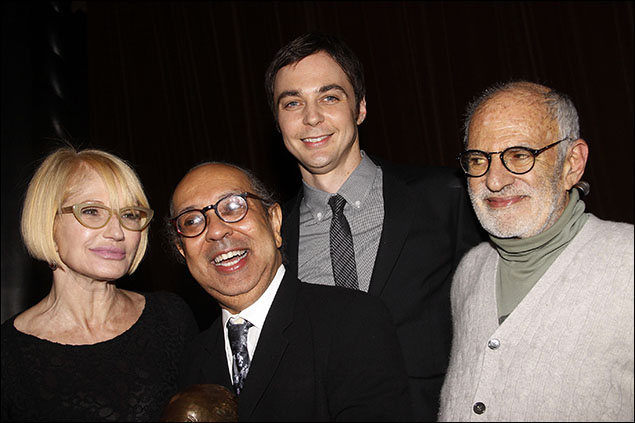 Ellen Barkin, George C. Wolfe, Jim Parsons and Larry Kramer