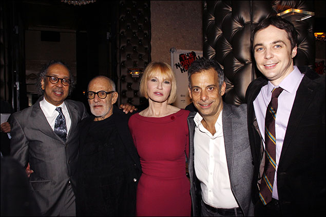 George C. Wolfe, Larry Kramer, Ellen Barkin, Joe Mantello and Jim Parsons at the opening night The Normal Heart