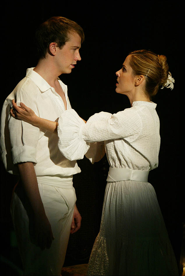 Tyler Maynard and Kerry Butler in Miracle Brothers at The Vineyard Theatre