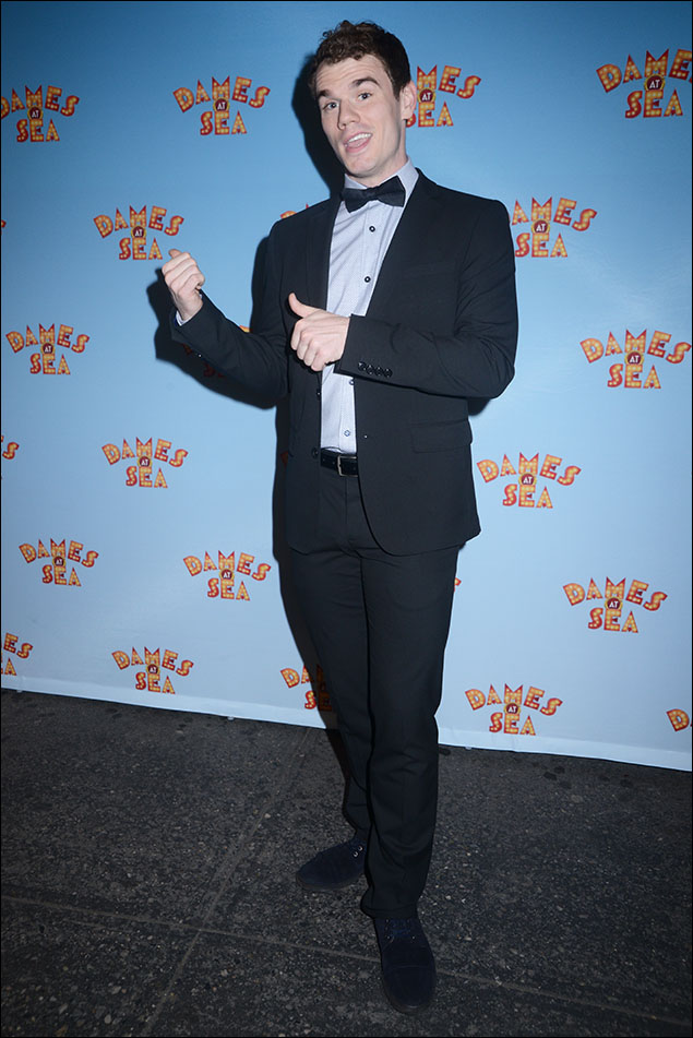 Jay Armstrong Johnson, a salute to you for looking snappy in that handsome tux with a micro-diamond textured shirt and black satin bow tie. Sometimes the basics are best!