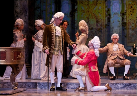 Peter Schmitz, Rob McClure and Louis Lippa in Amadeus at The Walnut Street Theatre