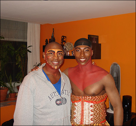 Wishing Aaron Nelson (Simba), my dressing room-mate, a great show!