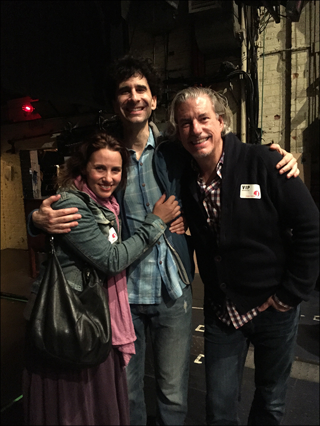 After the show, Tricia Paoluccio and Gabe Barre visited backstage. Tricia and I did Fiddler together. Gabe directed Almost, Maine off Broadway in 2006 and his new show, Amazing Grace is opening this summer on Broadway!