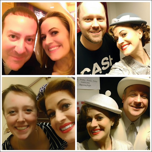Selfies! With Mead (Box Office), Kenny (crew who I went to college with! Small world!), Kevin (cast), and Beth (my fabulous dresser!)