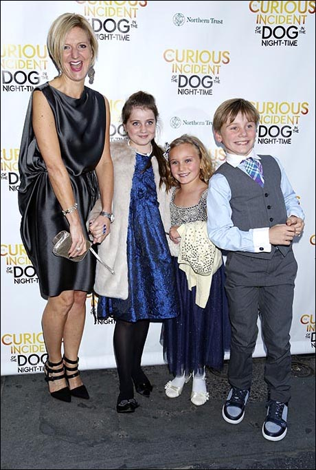 Marianne Elliott with her daughter and friends