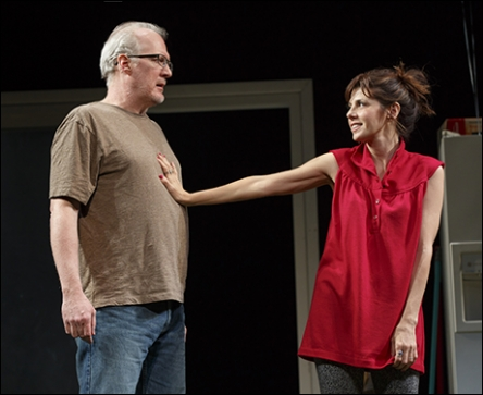 Tracy Letts and Marisa Tomei in The Realistic Joneses