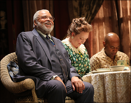 James Earl Jones, Kristine Nielsen and Marc Damon Johnson in Broadway's You Can't Take It With You.