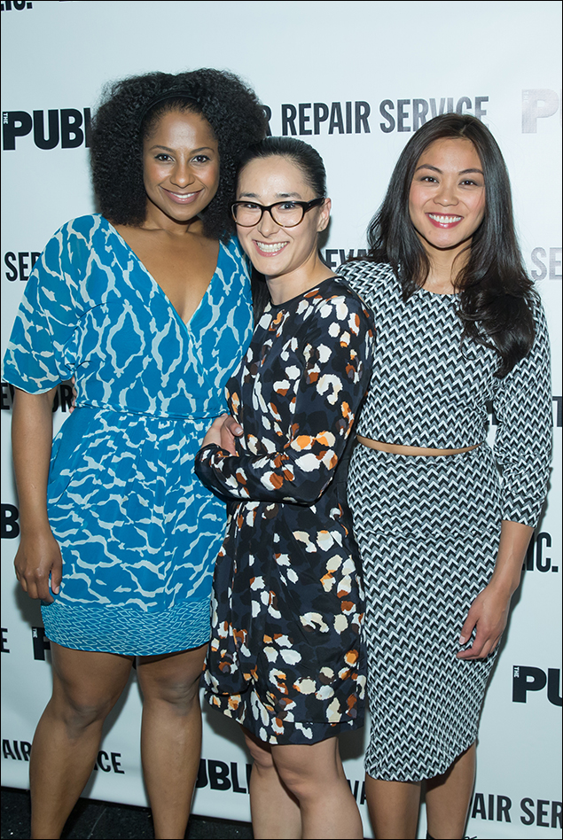 Macbeth company members Nicole Lewis, Jennifer Ikeda and Teresa Avia Lim