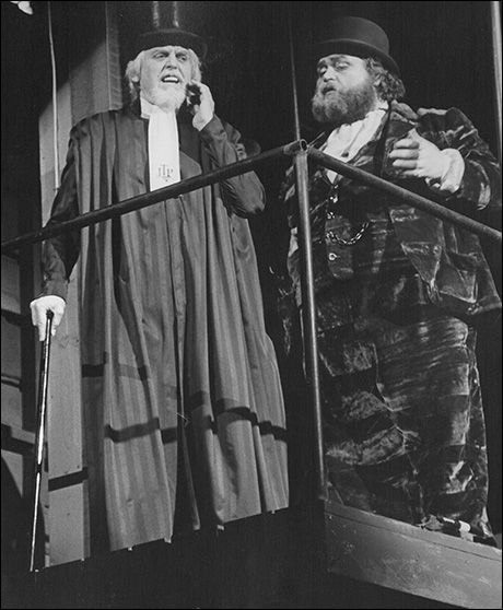 Edmund Lyndeck and Jack Eric Williams in the original Broadway production