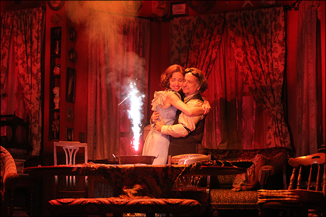 Rose Byrne and Mark Linn-Baker in You Can't Take It With You, nominated for Best Revival of a Play
