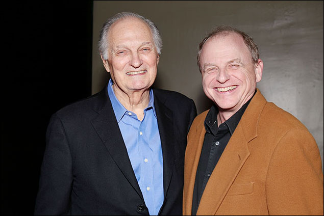 Alan Alda and Douglas Denoff