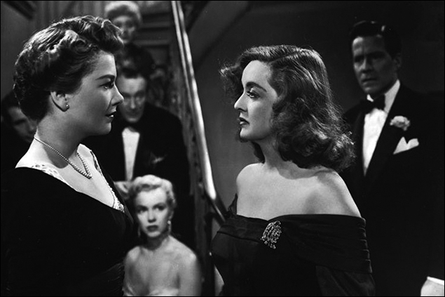 "Anne Baxter, Marilyn Monroe and Bette Davis  in ""All About Eve"""