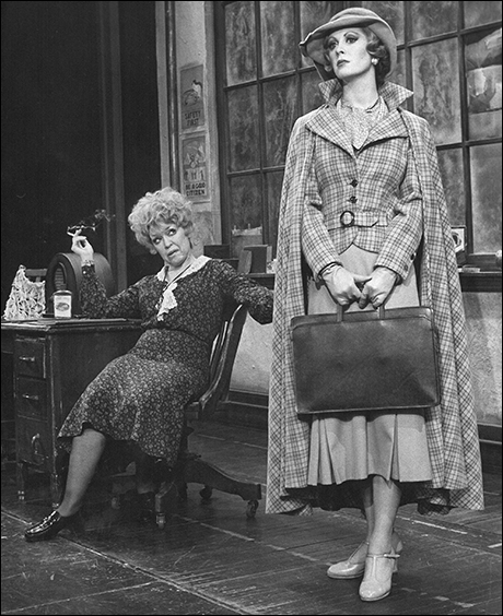 Dorothy Loudon and Sandy Faison in the original Broadway production