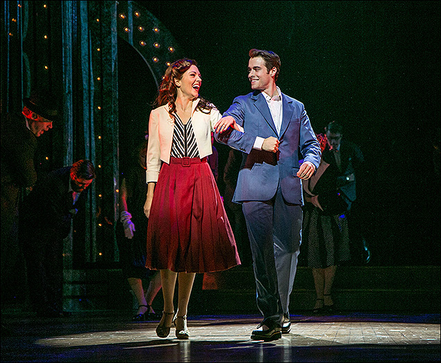 Laura Osnes and Corey Cott in The Bandstand at the Paper Mill Playhouse.