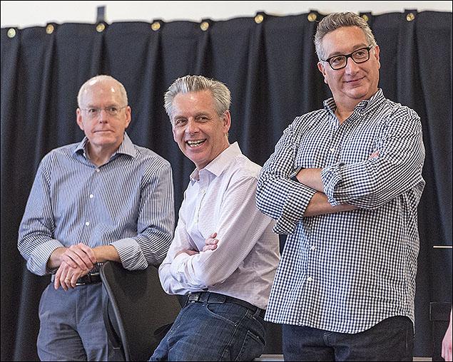 Center Theatre Group Producing Director Doug Baker, CTG Artistic Director Michael Ritchie and Moisés Kaufman