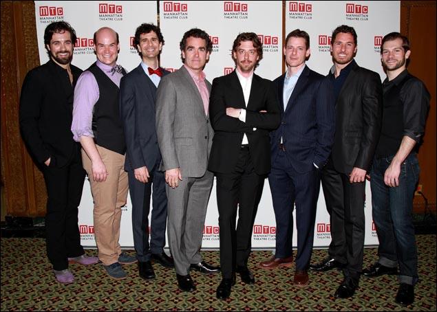 Bud Weber, Aaron Kaburick, John Cariani, Brian d'Arcy James, Christian Borle, Brian Shepard, Aleks Pevec and Ryan Vandenboom