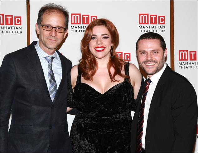 John Rando, Alysha Umphress and Joshua Bergasse