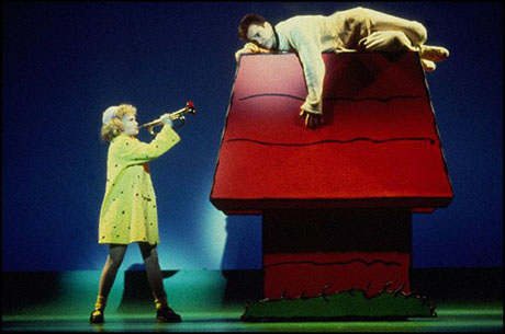 Kristin Chenoweth and Roger Bart in You're a Good Man, Charlie Brown