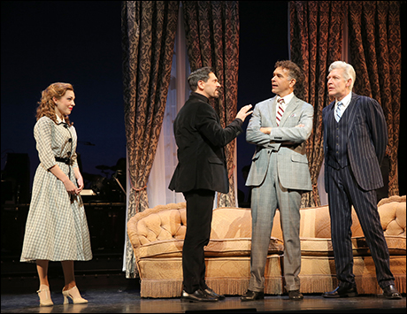 Laura Osnes, Michael Berresse, Brian Stokes Mitchell and Tony Sheldon in The Band Wagon