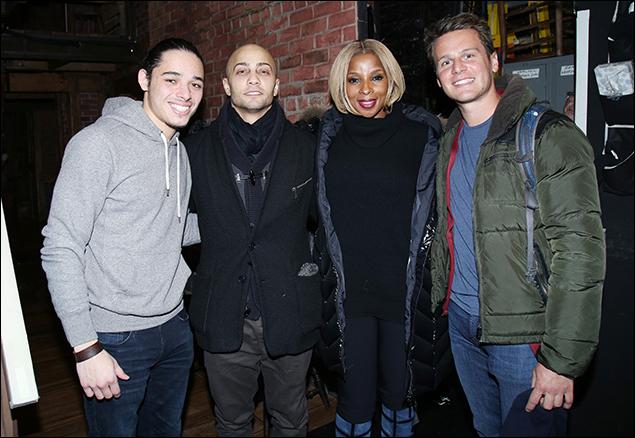 Anthony Ramos, Seth Stewart, Mary J. Blige and Jonathan Groff