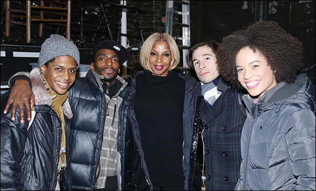 Ephraim Sykes, Daniel J. Watts, Mary J. Blige, Jon Rua and Sasha Hutchings