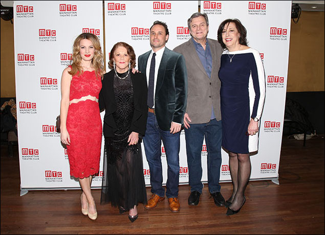 Kate Arrington, Linda Lavin, Greg Keller, John Procaccino and Lynne Meadow