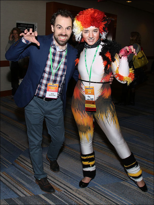 Rob McClure and Fan