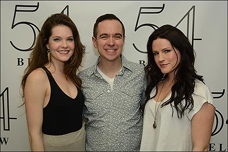 Meghann Fahy, Benjamin Rauhala and Carrie Manolakos