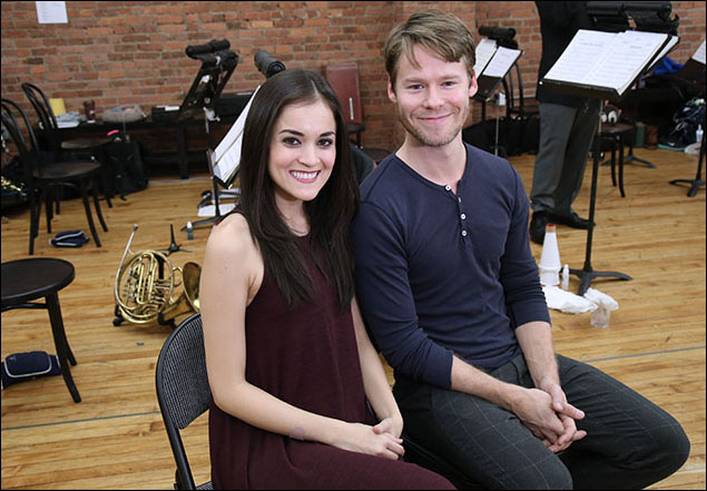 Andrea Goss and Randy Harrison
