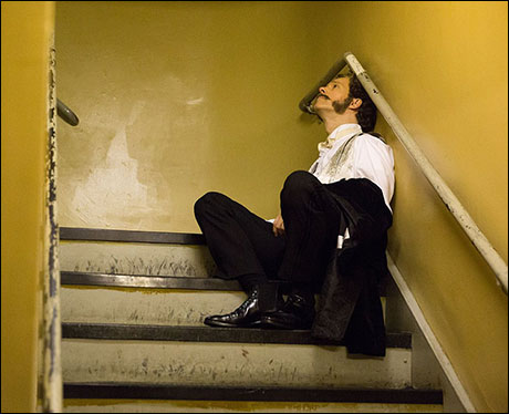 Laird Mackintosh lingers backstage in the stage left stairwell at the Majestic towards the end of Act Two.